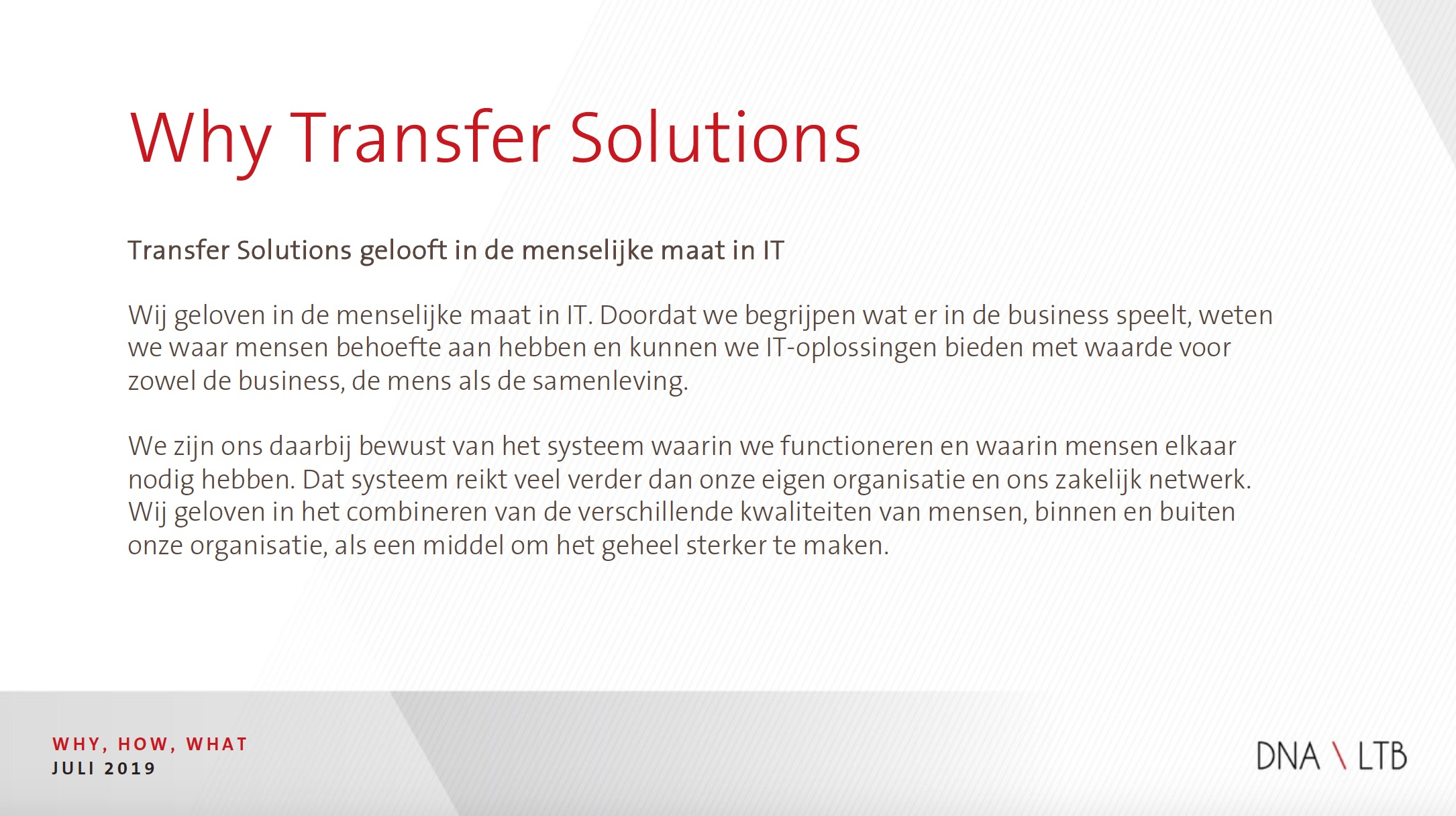Why Transfer Solutions